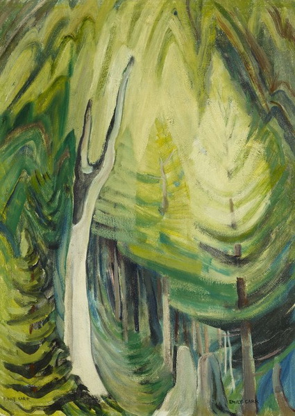 Emily Carr -  Young pines in light