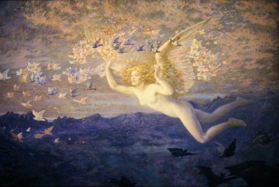 Edward Robert Hughes -  Wings of the Morning