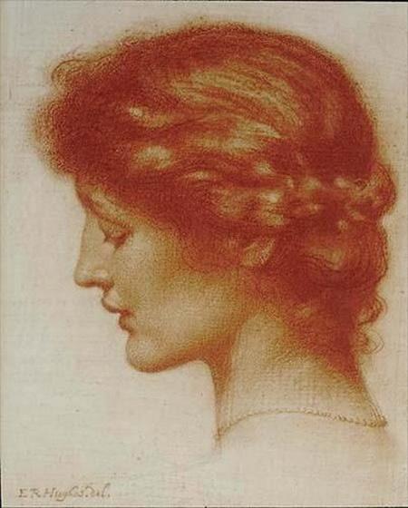 Edward Robert Hughes -  Portrait of Rosalind