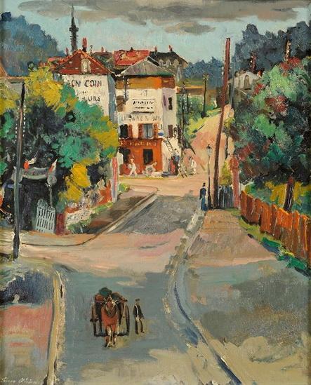 Lucien Adrion - Street Scene