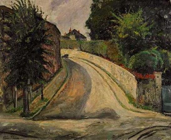 Lucien Adrion -  Vorstadt mit Garten