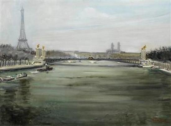 Lucien Adrion - La Seine a Paris