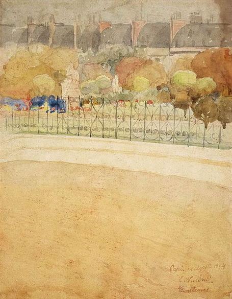 Eliseu Visconti Jardin des Tuilleries 1904
