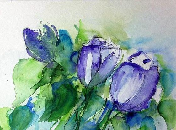 Britta Zehm - purple Tulips