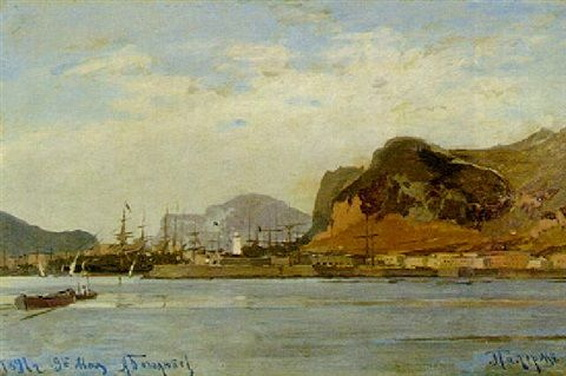 bogolyubov alexey -  The harbour at Palermo