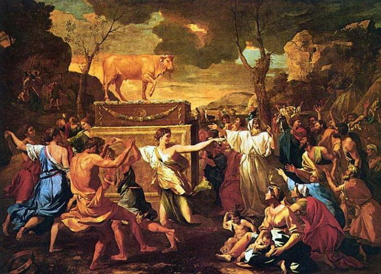 Nicolas Poussin - Поклонение золотому тельцу
