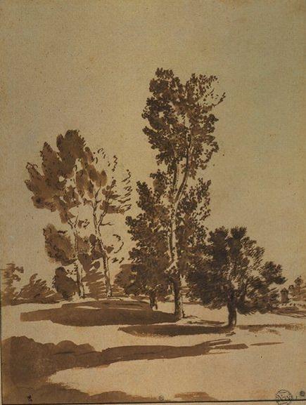 Nicolas Poussin - Paysage aux cinq arbres