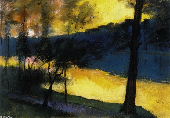 Lesser Ury - Landscape at Sunset