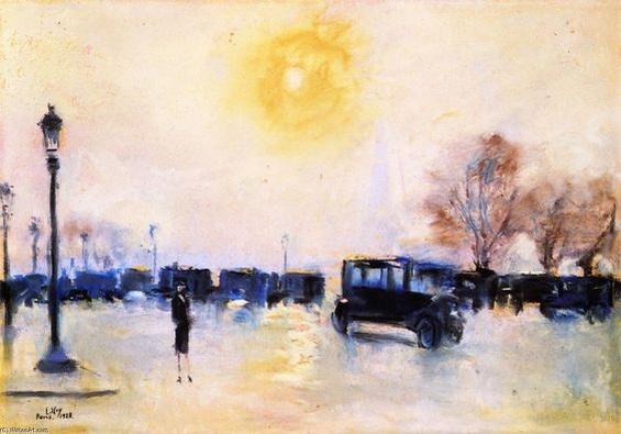 Lesser Ury - Paris, Sunrise