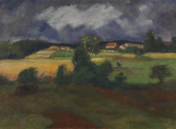 Otto Modersohn - Gewitterlandschaft