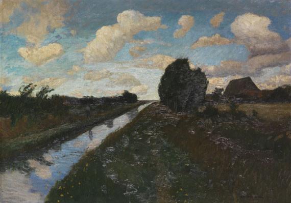 Otto Modersohn - Moorkanal mit hohem
