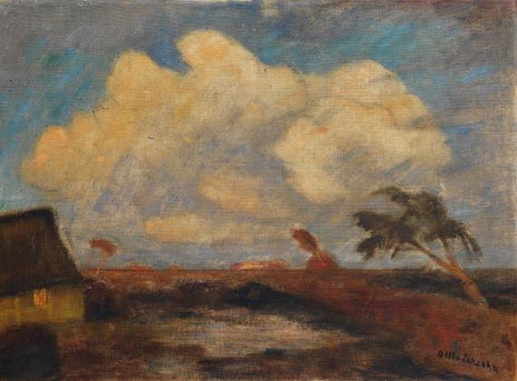 Otto Modersohn - Herbstabend im Moor,