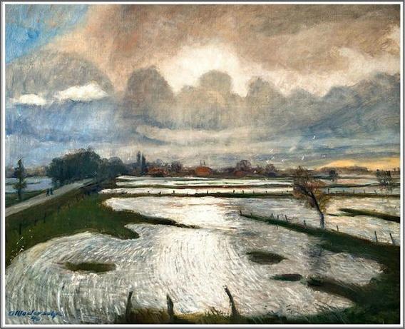 Otto Modersohn - Inondations