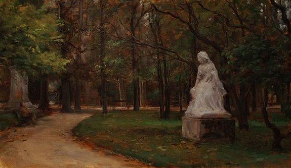 Travis Schlaht - November In The Luxembourg Garden