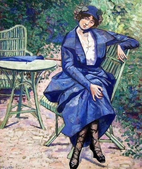 Georgette Agutte - The Blue Dress