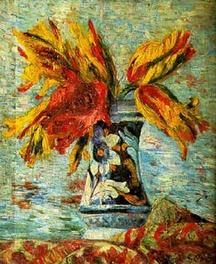 Georgette Agutte - Vase de tulipes