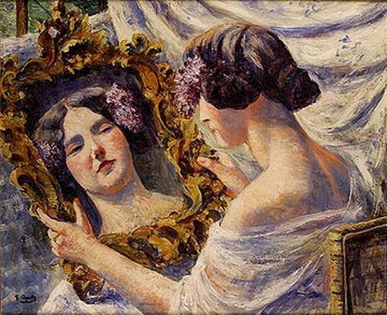 Georgette Agutte - Young Woman with Mirror