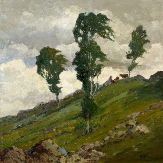 Gustav Macoun - Landscape in wind
