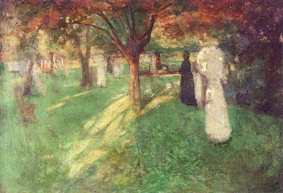 William Nicholson - Our Garden, London Road