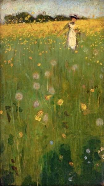 William Nicholson - The Dandelion Field