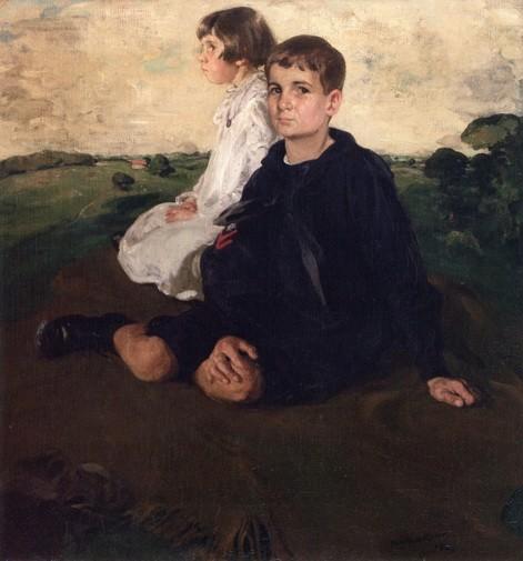 William Nicholson - Portrait of Edith and John A. Logan as Children