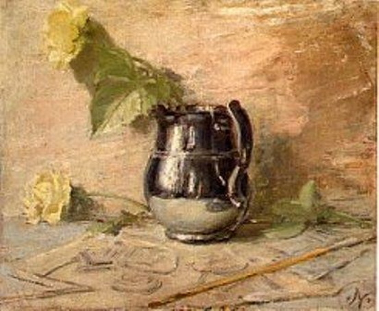 William Nicholson - Silver Lustre Jug with Roses