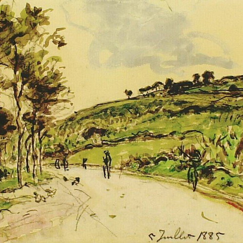 Johan Barthold Jongkind - Country Road
