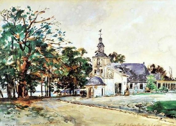 Johan Barthold Jongkind - La chapelle Notre-Dame de Grace