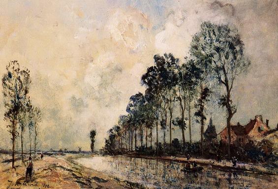 Johan Barthold Jongkind - The Oorcq Canal, Aisne