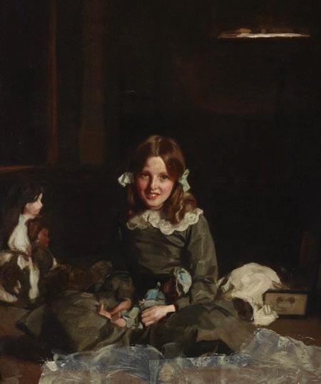 Harrington Mann - Mona and her dolls