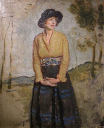 Harrington Mann - Girl in a Black Hat