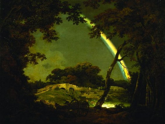 Joseph Wright - Landscape with Rainbow