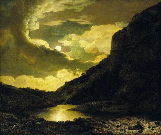 Joseph Wright - Matlock Tor by Moonlight