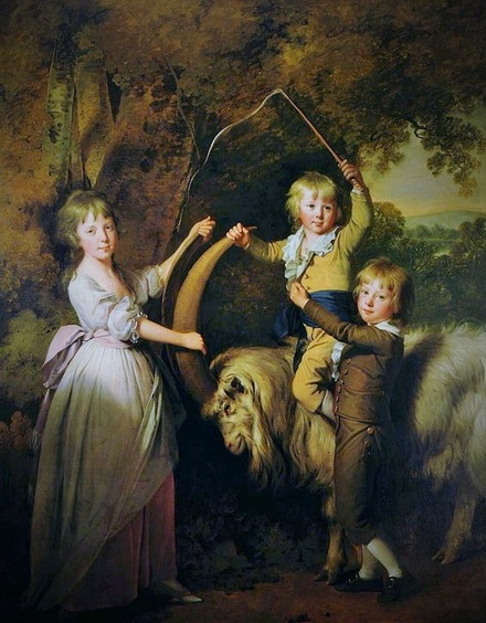 Joseph Wright of Derby - Three Children of Richard Arkwright