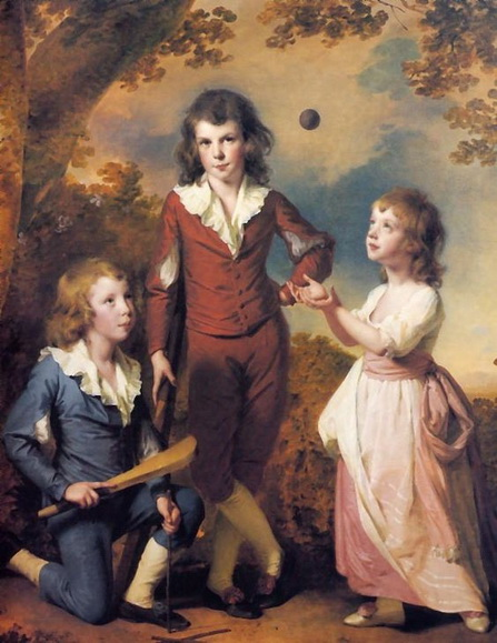 Joseph Wright of Derby - Wood children