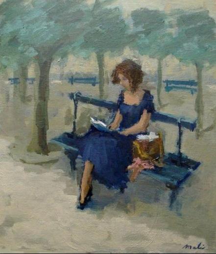 Malie Baehr - Meisje op Place des Vosges