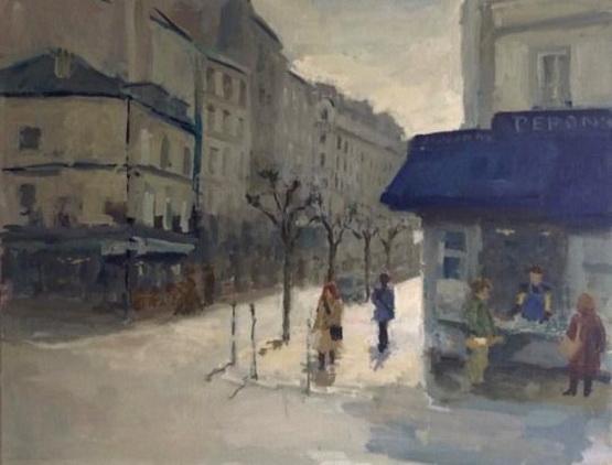 Malie Baehr - Montmartre, Morning Sun, Paris