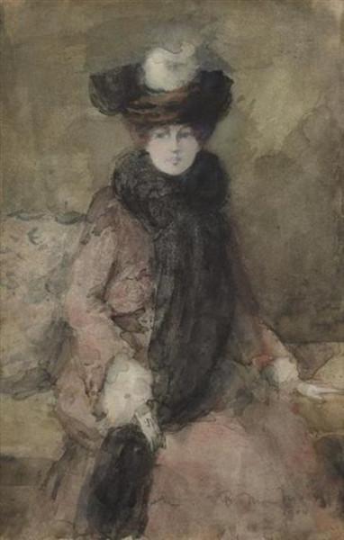 Bessie MacNicol - Lady with a Fur Collar