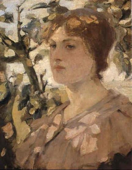 Bessie MacNicol -  Head of a girl