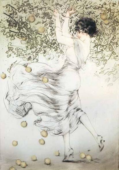 Louis Icart - Golden Apples