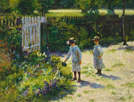 Wladyslaw Podkowinski - Children in the garden