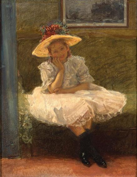 Wladyslaw Podkowinski - Dziewczynka w kapeluszu