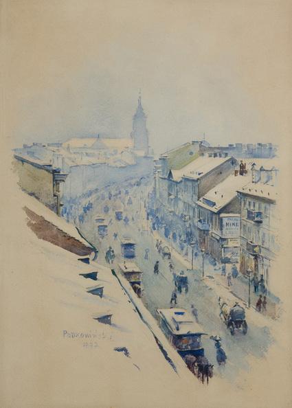 Wladyslaw Podkowinski - Nowy Swiat Street, Warsaw