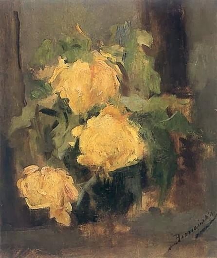 Olga Boznanska - Gold Rose