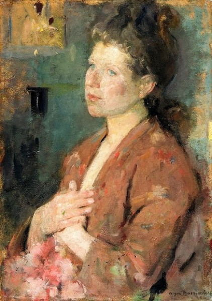 Olga Boznanska - Portrait of a Young Lady