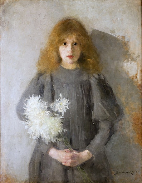 Olga Boznanska - Dziewczyna z chryzantemami