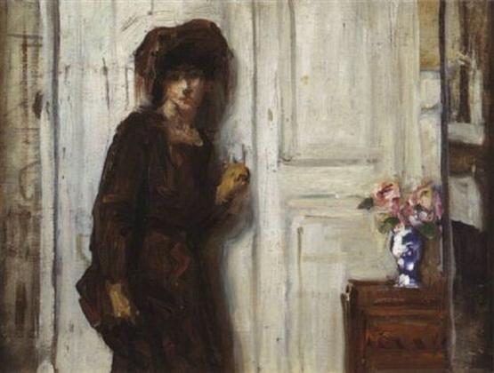Rene Prinet - La femme en brun