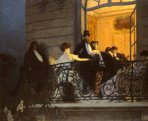 Rene Prinet - Le balcon