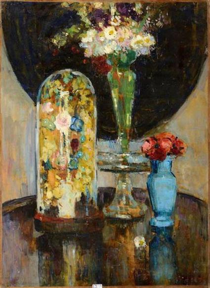 Philibert Cockx - Still life with flowers