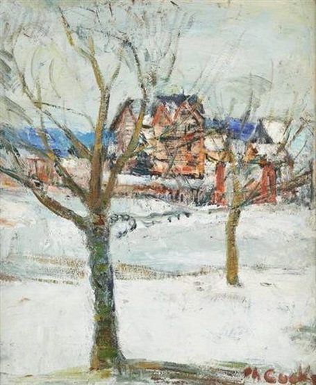 Philibert Cockx - Maison sous la neige